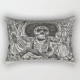 Calavera Oaxaqueña - Día de los Muertos - Mexican Day of the Dead by Jose Clemente Orozco Rectangular Pillow