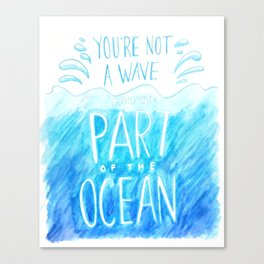 Part of the Ocean Canvas Print
