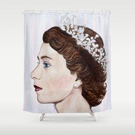 Elizabeth II Shower Curtain