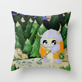 yeti of the night Throw Pillow