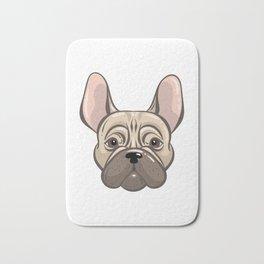 Cute french bulldog muzzle Bath Mat