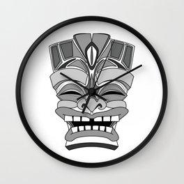 Smiling Tiki-Mask Wall Clock