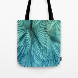 Tropical Jungle Palm Leaves in Green Tote Bag