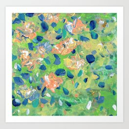 Just Because - Abstract floral Art Print
