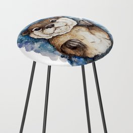 Watercolor Otter Counter Stool