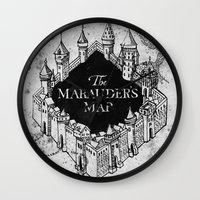 marauders Wall Clocks featuring Marauders Map by bimorecreative