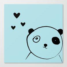 panda blue Canvas Print