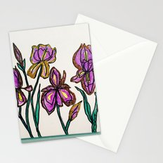 Iris with glitter Stationery Cards