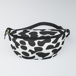 Shapes, Black and White Fanny Pack
