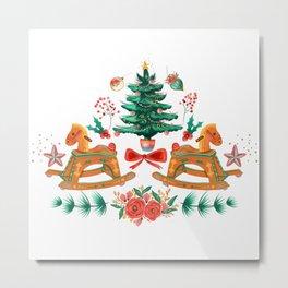cozy christmas Metal Print