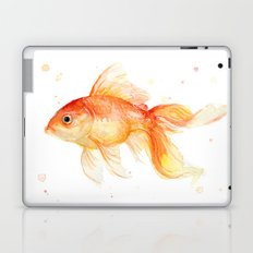 Goldfish Watercolor Fish Laptop & iPad Skin