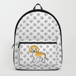 Cute Lemon And White Beagle Dog Cartoon Illustration Backpack