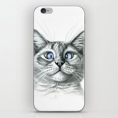 Cross Eyed cat G122 iPhone & iPod Skin