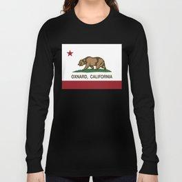 Oxnard California Republic Flag Long Sleeve T-shirt