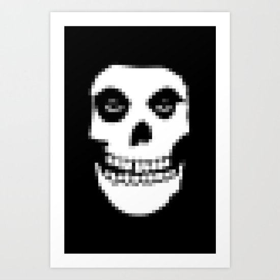 pixelated punk. Art Print