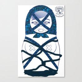 Blueprint Bondage Matryoshka / Nesting Doll  Canvas Print