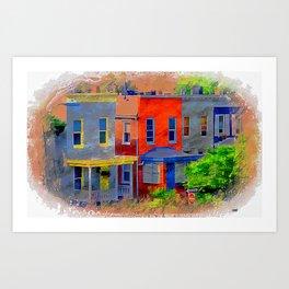 Colorful block Art Print