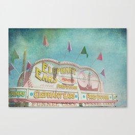 Elephant Ears Funnel Cakes Carnival Fair Whimsical Foodie Pastel Home Decor Art Canvas Print