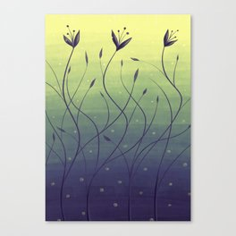 Purple Algae Plants In Green Water Canvas Print
