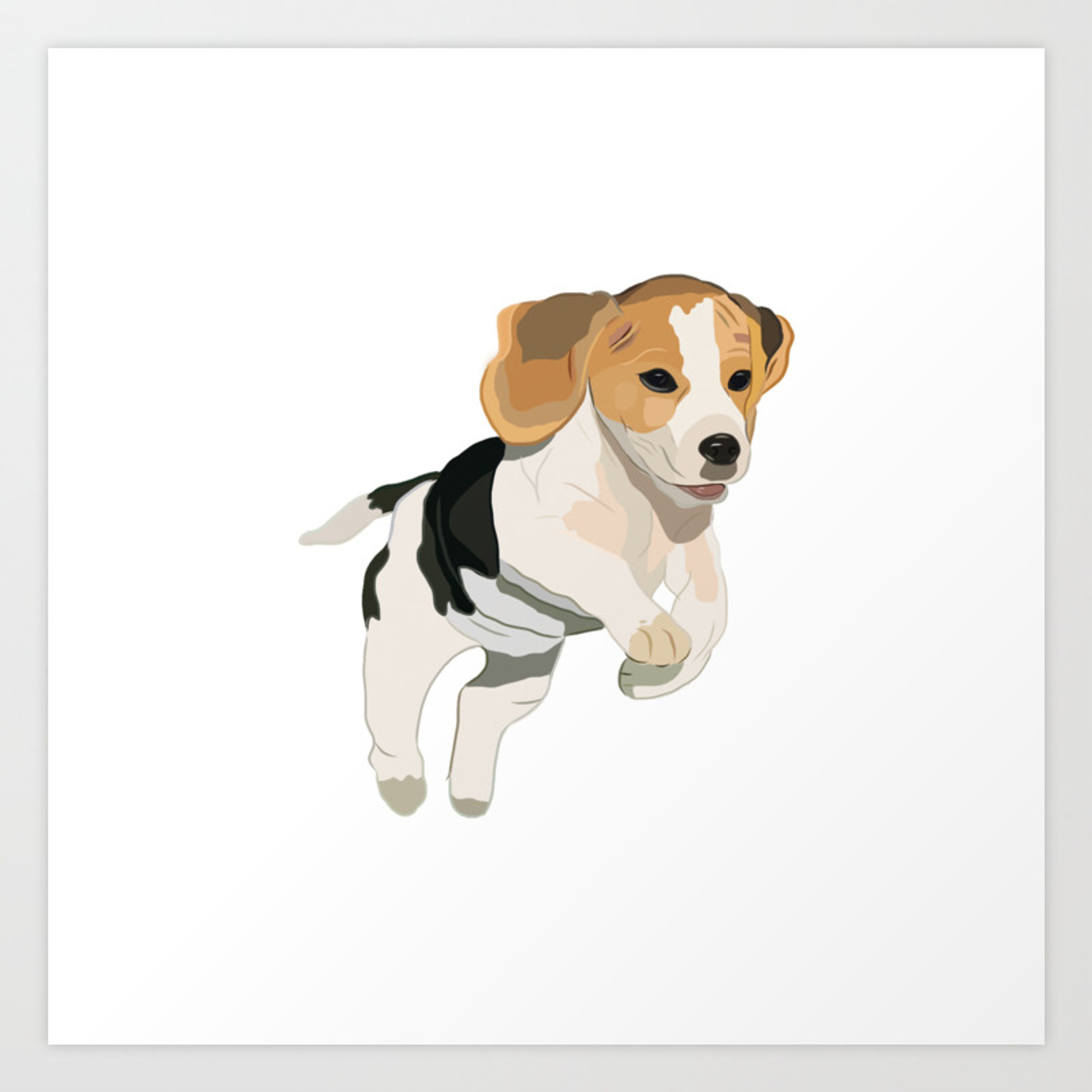 Beagle Art Beagle Puppy Digital Painting Art Print By Mybloomingbook Society6