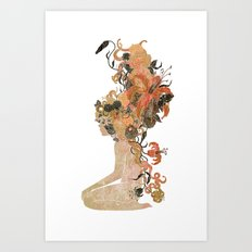 Freya's Hair (Gold) Art Print