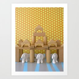 Les gardiens Art Print
