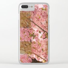 Blooming Squares Clear iPhone Case
