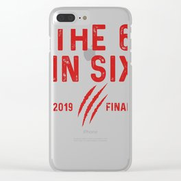 The six in six 2019 Championship Hoops Raptor Apparel Premium T-Shirt Clear iPhone Case