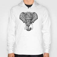ornate Hoodies featuring Ornate Elephant Head by BIOWORKZ