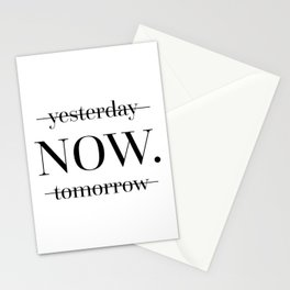NOW Motivational Quote Stationery Cards