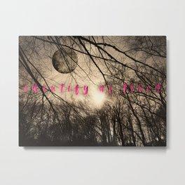 identify as tired Metal Print