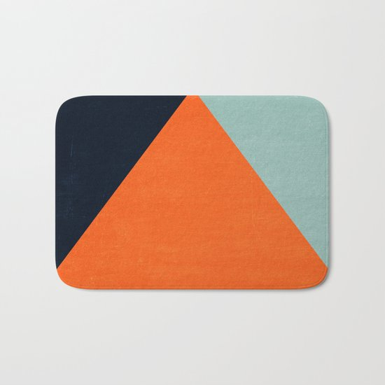 mod triangles - autumn Bath Mat