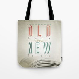 Poster (book & friend) Tote Bag