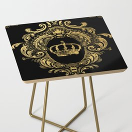 Gold Crown Side Table