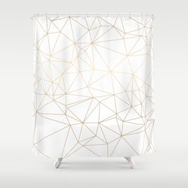 Geometric Gold Minimalist Design Shower Curtain