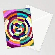 Playing Darts with Colours Stationery Cards