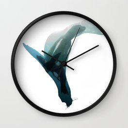 Galapagos sea lions triple exposure Wall Clock