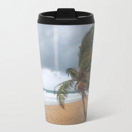 Windswept Palm tree Travel Mug
