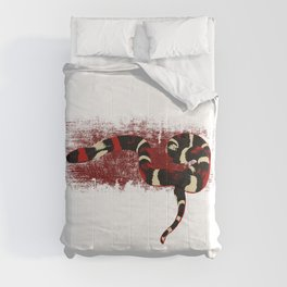Red and white Snake cobra gift. Poisonous reptiles lover Comforters