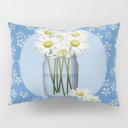 White Daisies Pillow Sham