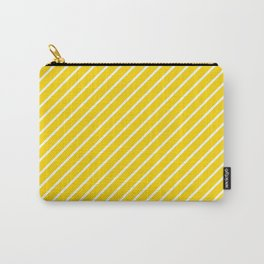 Diagonal Lines (White/Gold) Carry-All Pouch