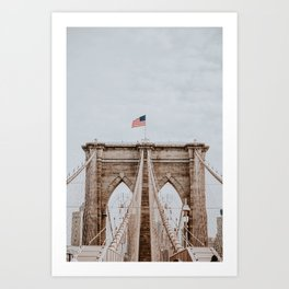 New York City V / Brooklyn Bridge Art Print