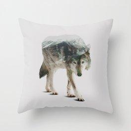 Winter Hunter Throw Pillow