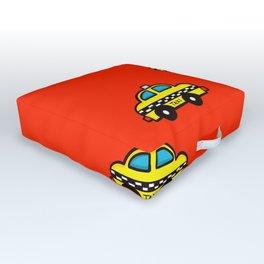 NYC Taxi Cabs Outdoor Floor Cushion