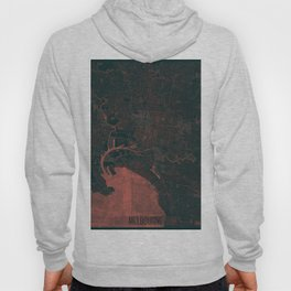 Melbourne Map Red Hoody