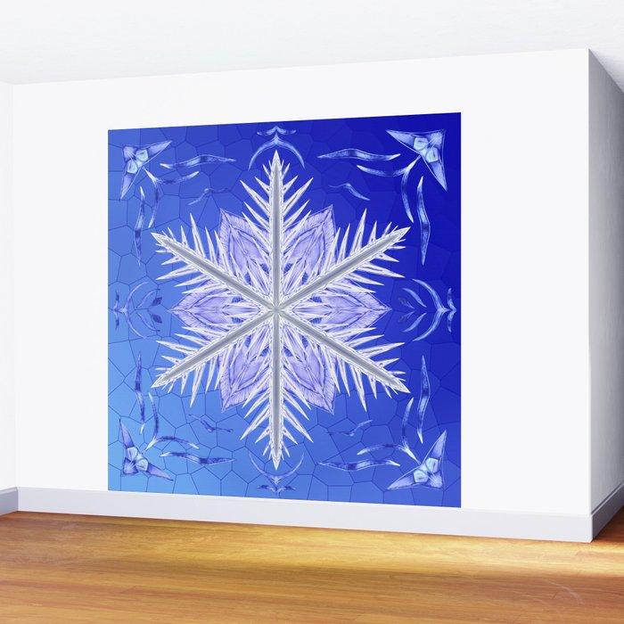 Snowflake Pattern - Bladed Sky Wall Mural