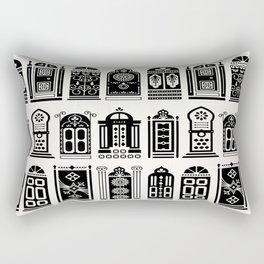 Moroccan Doors – Black Palette Rectangular Pillow
