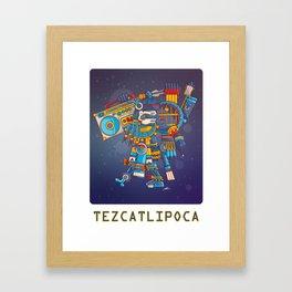 Tezcatlipoca Lord of the Night v2 Framed Art Print