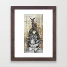 le lièvre de mars Framed Art Print
