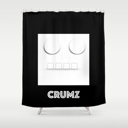 CRUMZ - Silly Robot - Bad Robot Shower Curtain
